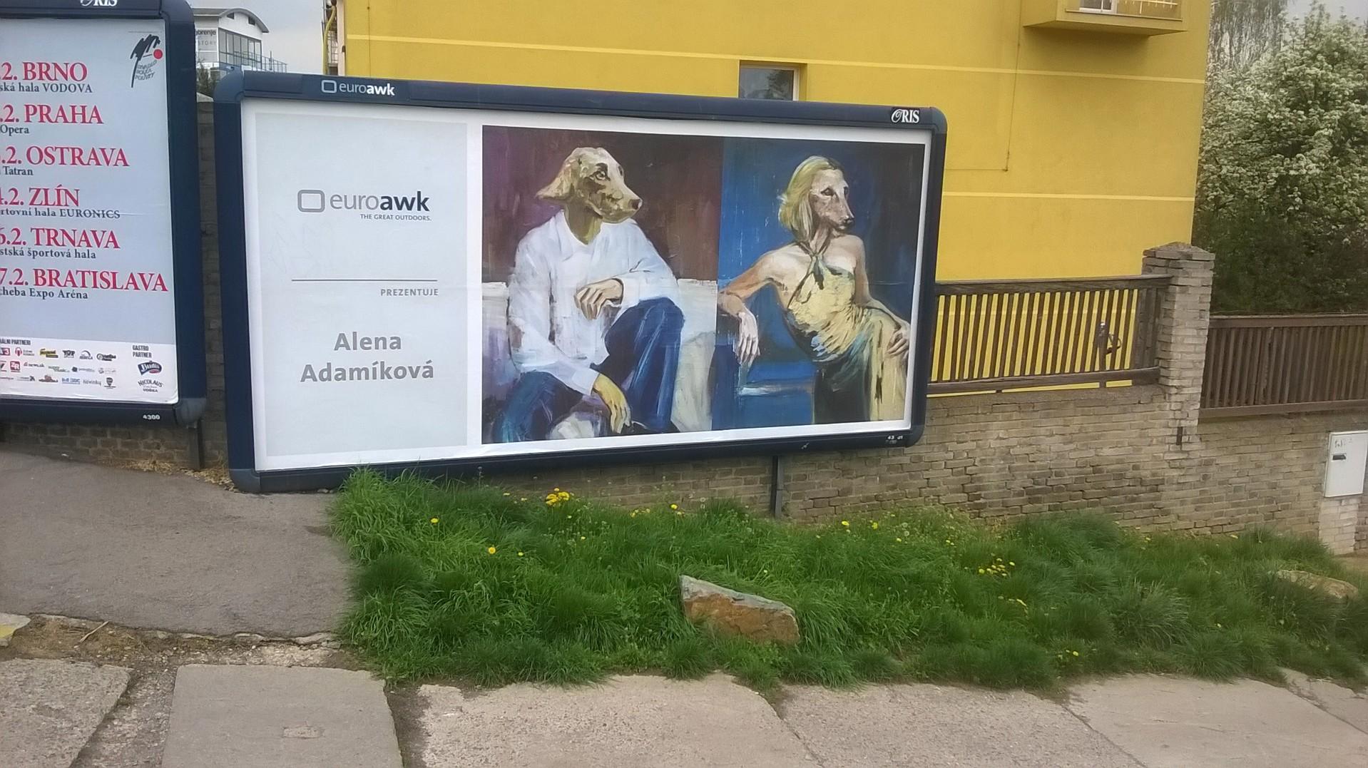 euroawk alena adamikova poster billboard